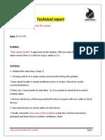 Fire Accomodation Problem Report