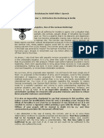 Discurs Adolf Hitler-1 Septembrie 1939-Despre Invadarea Poloniei