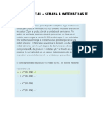 Examen Parcial – Semana 4 Matematicas II