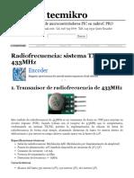 Radiofrecuencia_ Sistema TX_RX a 433MHz - Tecmikro