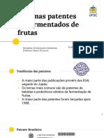 Patentes de Fermentados de Frutas