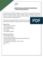 IEP normas para elaboração de TCC