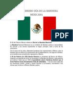 24 de Febrero Día de La Bandera Mexicana