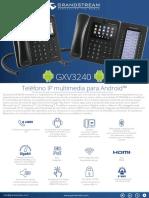 Gxv3240 Spanish Datasheet