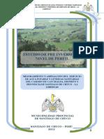 Perfil Instalacion Agua Potable y Letrinas Chagavara