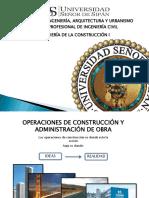 Operaciones de Construcción y Administración de Obra