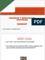 El Warrant y el Certificado de Deposito - Perú