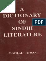 Dictionary of Sindhi Literatur