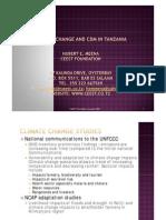 Climate Change& CDM Tanzania