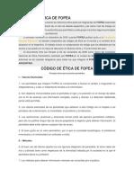 Cod Etica Fopea