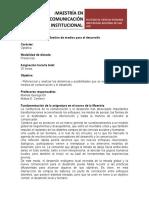 Programa MCI_UNSL_medios Para El Desarrollo 2015
