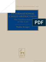 International Child Abduction the Inadequacies of the Law. Por Thalia Kruger.