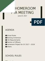 1st Homeroom Pta Meeting