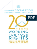Vienna Declaration and Programme of Action on Human Rights,1993