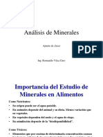 Minerales - Agua