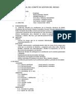 Plan de Gestion Del Riesgo 2016
