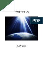 Entretiens de Juin 2017 - Livre PDF