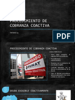DERECHO TRIBUTARIO I (CÓDIGO TRIBUTARIO) - Semana 13 Procedimiento de Cobranza Coactiva(1)