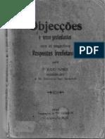 Objeções e Erros Protestantes Com as Respectivas Respostas Irrefutáveis - Júlio Maria de Lombaerde