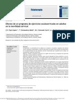 Efectos de Un Programa de Ejercicios Oculocervicales en Adultos