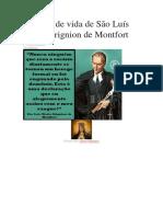 História de Vida de São Luís Maria Grignion de Montfort