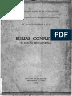 Bíblias Completas e Bíblias Incompletas - Antônio Miranda