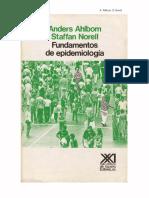 Fundamentos de Epidemiología de Ahlbom 1991