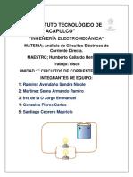 Inv. Analisis de Circuitos en CD