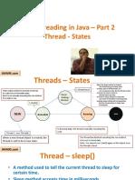Threads – States Multithreading Part 2