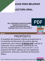 Sugerencia1 Para Mejorar La Lectura Oral 23-03-17 Dra_ Esperanza Sifuentes Barrera