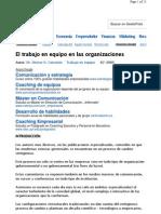 El Trabajo en Equipo en Las Organizaciones