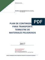 Plan de Contingencia Para Transporte Terrestre de Materiales Peligrosos