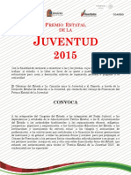 Convocatoria Premio Estatal de La Juventud 2015