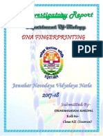 DNA FINGERPRINT INVESTIGATORY PROJECT CLASS 12
