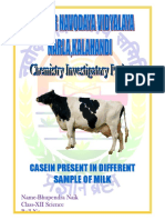 INVESTIGATORY PROJECT CASEIN PRESENT IN DIFFERENT SAMPLE OF MILK