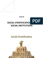 Unit IV Social Stratification and Social Institutions.pptx