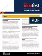 2017 Ideafest Schedule