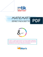 Martı 8. Sınıf Matematik Pratik Defter