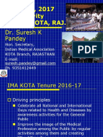 Indian Medical Association (IMA) Kota Branch Activity Report by Dr Suresh K Pandey, Secretary IMA Kota