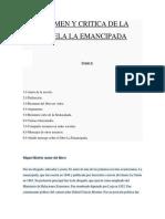 Novela La Emancipada