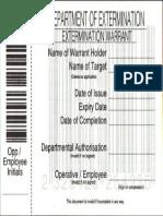 Ex Term Warrant