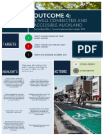 Outcome 4 a Well Connected and Accessible Auckland Summary 2015-16
