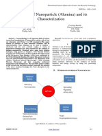 Synthesis of Nanoparticle -Alumina- And Its Characterization