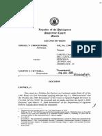 g.r. No. 175098, August 26, 2015 - Ismael v. Crisostomo, Petitioner, V. Martin p. Victoria, Respondent.