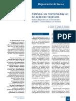 391-165 Potencial de Fitorremediación de Especies Vegetales