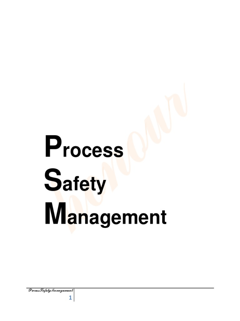 Honour4.Process Safety Management Ver 1 Docx(1