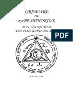 Honorius III - Grimoire 1760