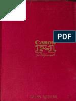 Canon F1 Sales Manual(1)
