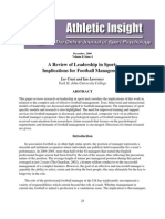 A Review of Leadership in Sport That Implications for Football Management
