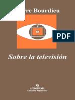 Bourdieu P Sobre La Television
